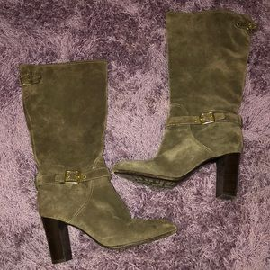 Suede Coach Boots